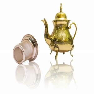 Handmade Premium Brass Teapot Teakettle with Stainless Steel Infuser